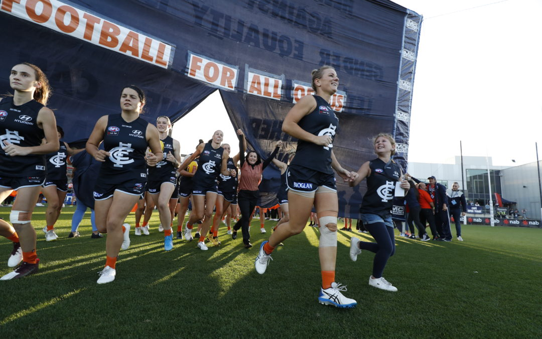 A night in Navy Blue and orange for Carlton Respects